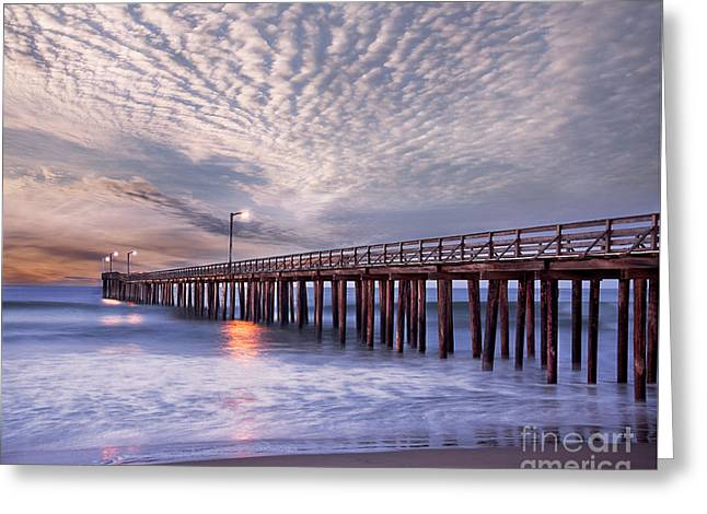 Cayucos Pier Greeting Card by Alice Cahill