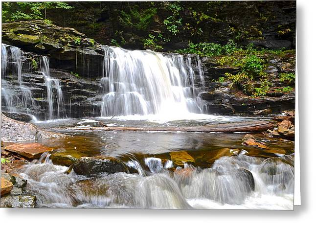 Cayuga Falls Greeting Card by Frozen in Time Fine Art Photography