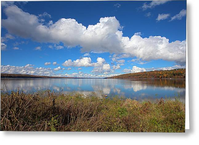 Cayuga Lake In Colorful Fall Ithaca New York II Greeting Card by Paul Ge