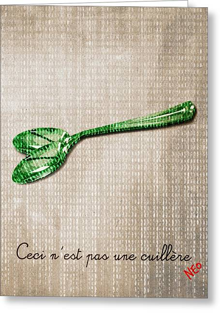 Ceci N'est Pas Une Cuillere By Neo Greeting Card by Filippo B