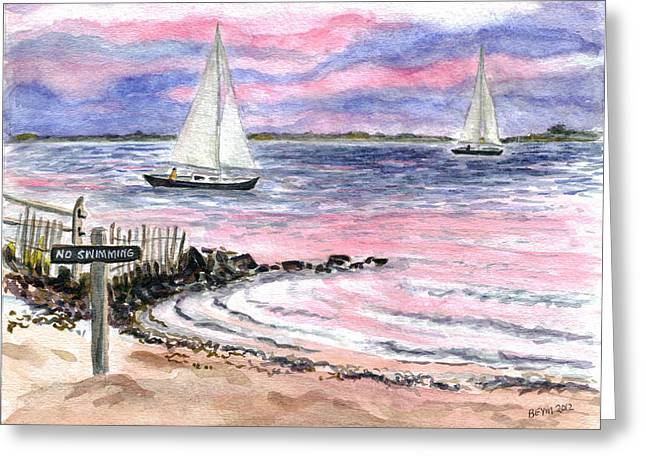 Cedar Beach Pinks Greeting Card