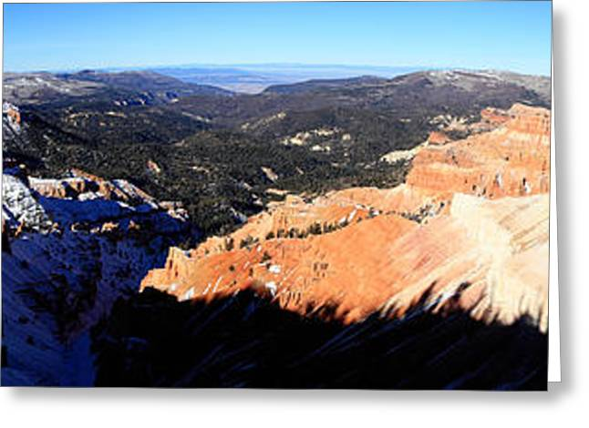 Cedar Breaks Panorama Greeting Card by Val Armstrong
