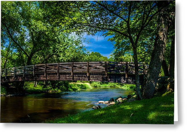 Cedar Creek Bridge Greeting Card by Randy Scherkenbach