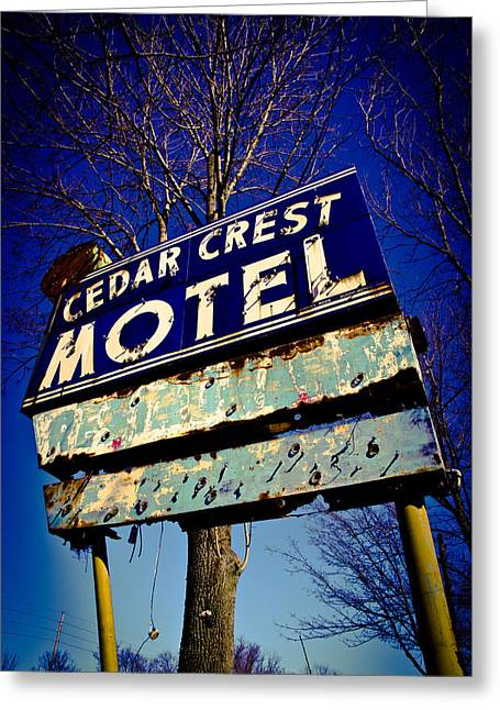 Cedar Crest  Greeting Card by Off The Beaten Path Photography - Andrew Alexander
