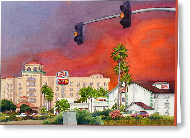 Cedar Fire San Diego 2003 Greeting Card by Mary Helmreich