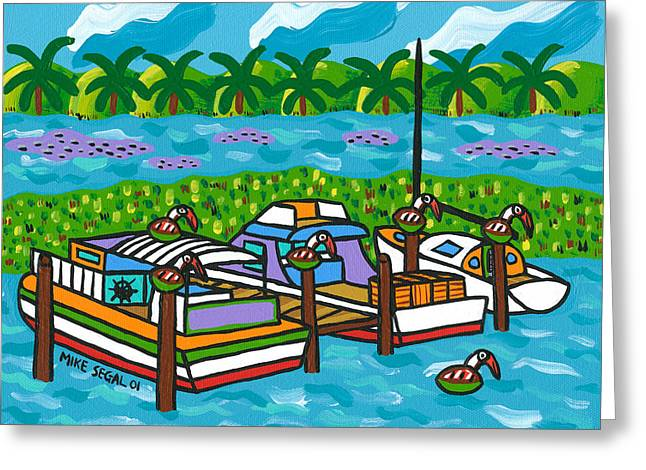 Cedar Key Bayou Greeting Card