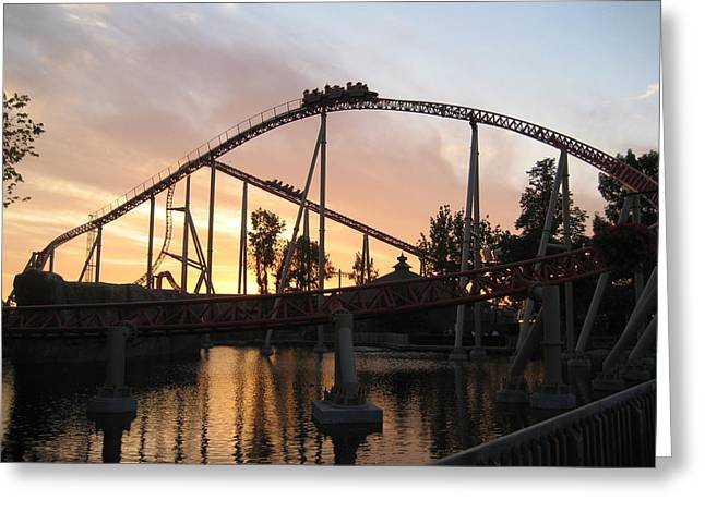 Cedar Point - Maverick - 12121 Greeting Card