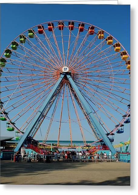Cedar Point Sunday Greeting Card by Frozen in Time Fine Art Photography