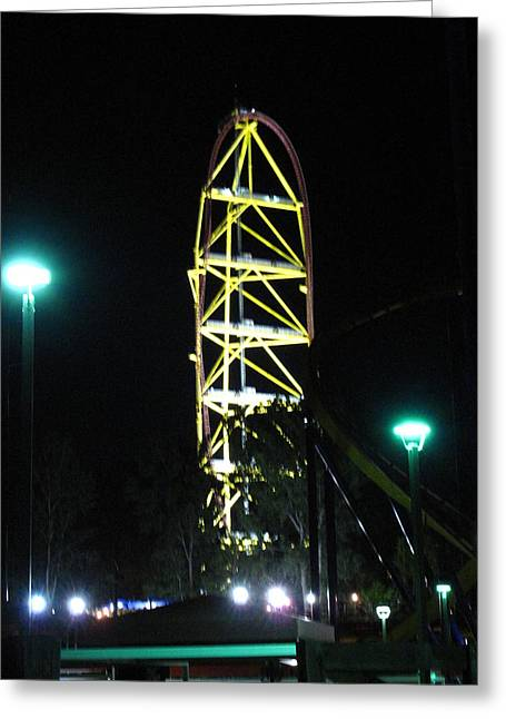 Cedar Point - Top Thrill Dragster - 12121 Greeting Card by DC Photographer