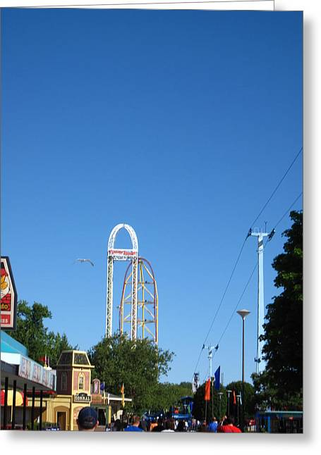 Cedar Point - Top Thrill Dragster - 12122 Greeting Card by DC Photographer