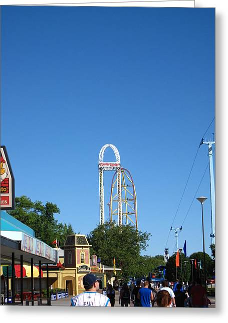 Cedar Point - Top Thrill Dragster - 12123 Greeting Card by DC Photographer