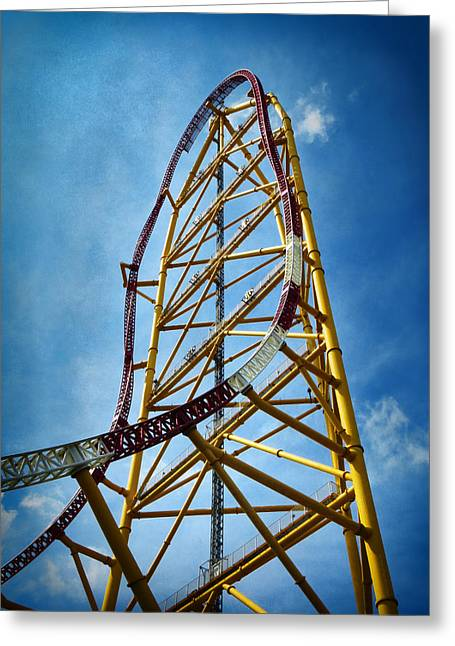 Cedar Point - Top Thrill Dragster Greeting Card