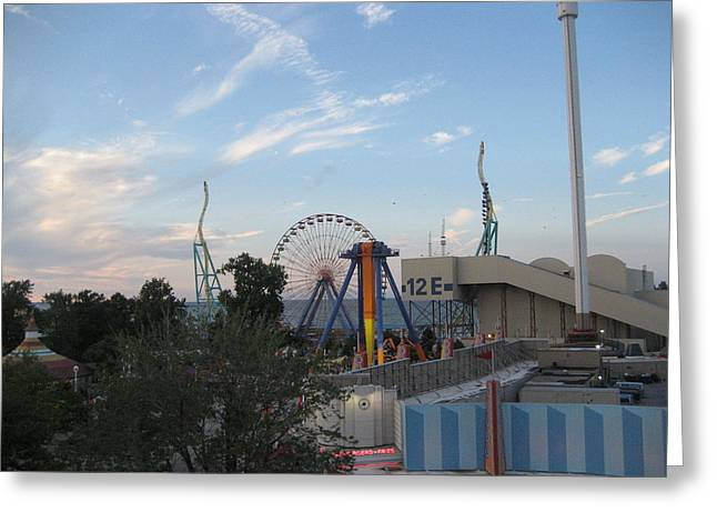 Cedar Point - Wicked Twister - 12121 Greeting Card by DC Photographer
