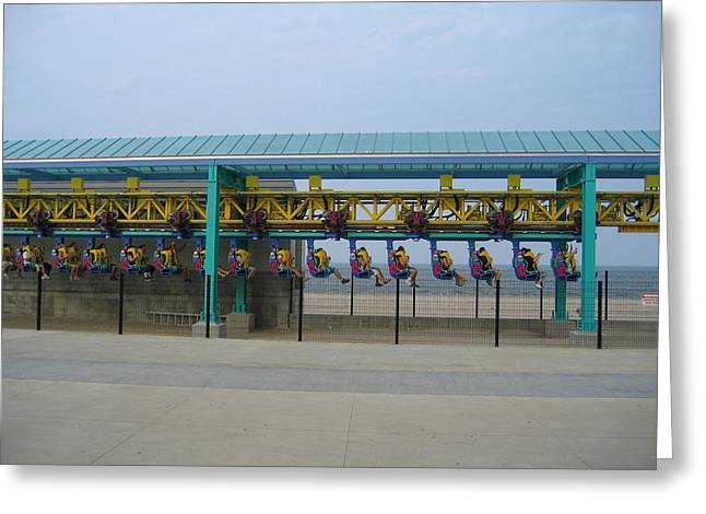 Cedar Point - Wicked Twister - 121211 Greeting Card by DC Photographer