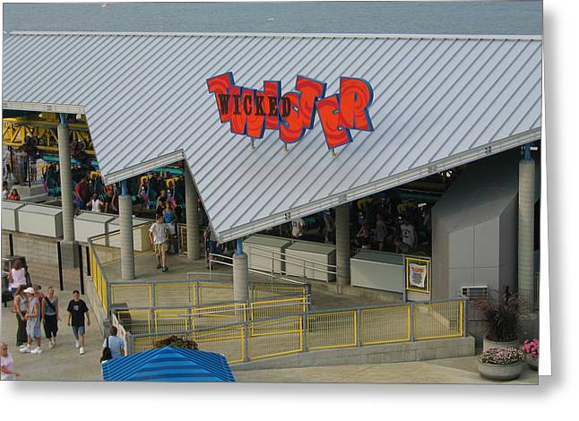Cedar Point - Wicked Twister - 12127 Greeting Card by DC Photographer