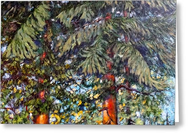 Cedars Greeting Card by Charles Munn
