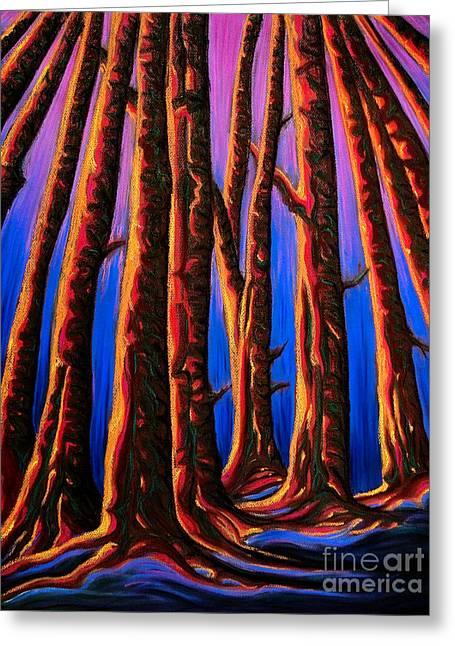 Cedars In Stanley Park Greeting Card by Jo-Anne Elniski