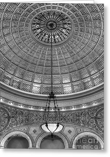 Ceiling Light Greeting Card by Margie Hurwich
