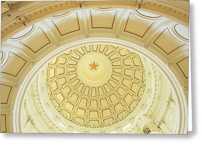 Ceiling Of The Dome Of The Texas State Greeting Card by Panoramic Images