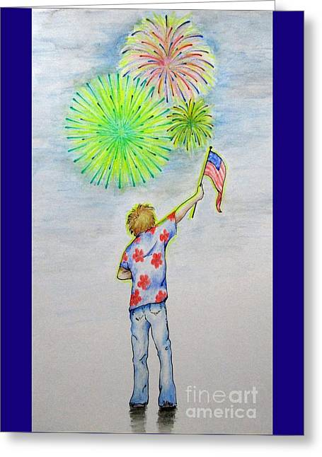 Celebrate America Greeting Card by Catherine Howley