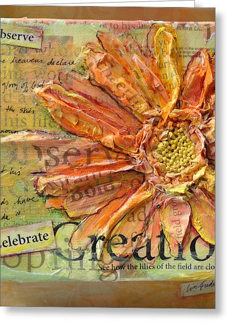 Greeting Card featuring the painting Celebrate Creation by Lisa Fiedler Jaworski