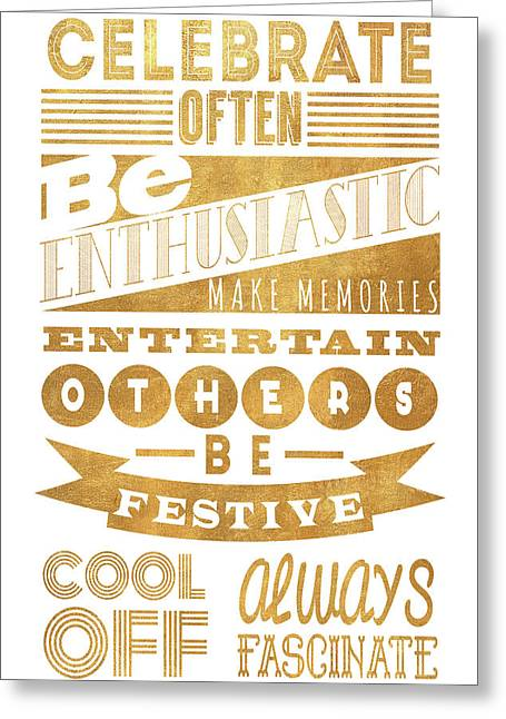 Celebrate Often Greeting Card by South Social Studio