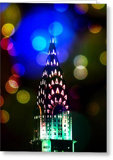 Celebrate The Night Greeting Card by Az Jackson