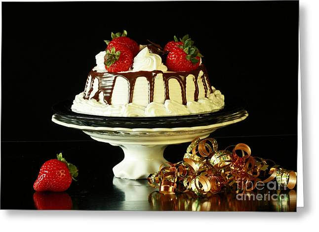 Celebrate With Cake Greeting Card by Inspired Nature Photography Fine Art Photography