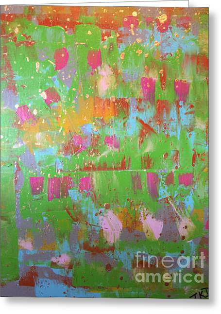 Celebration In Green Greeting Card