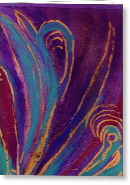 Celebration Iv Greeting Card by Anne-Elizabeth Whiteway