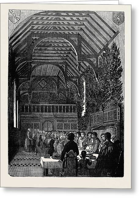 Celebration Of Palm Sunday In The Hall Of Sackville College Greeting Card