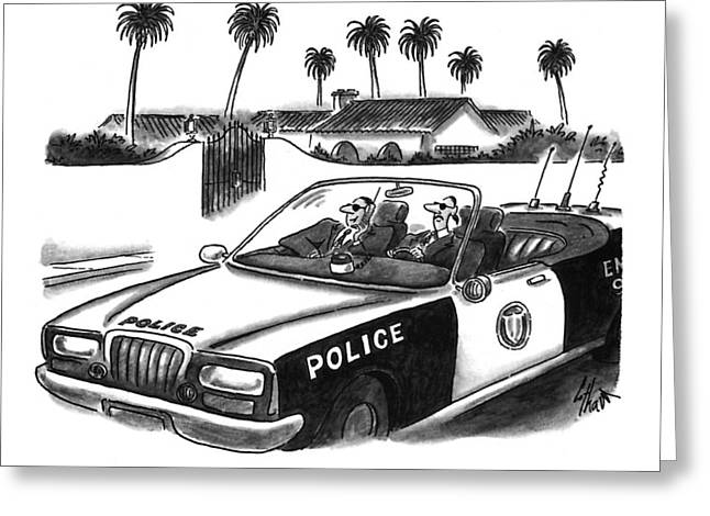 Celebrity Homicide.  How May We Help You? Greeting Card by Frank Cotham