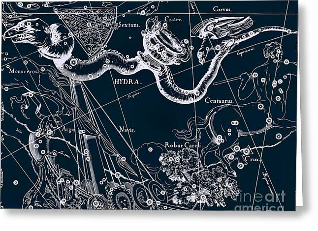 Celestial Antique Map Greeting Card by Baltzgar