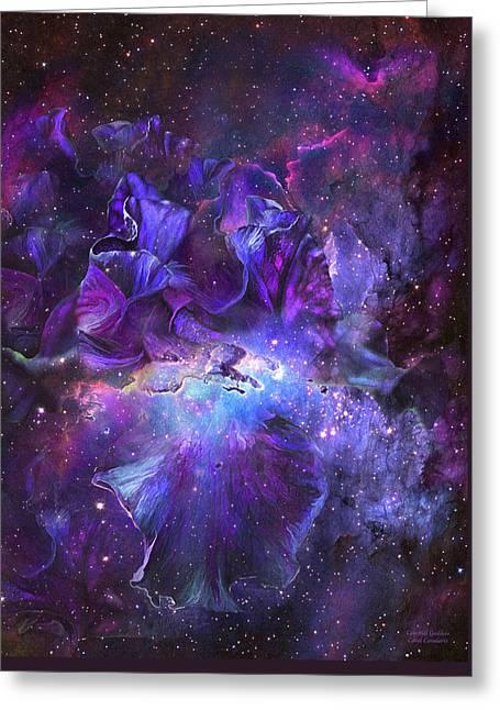 Celestial Goddess Greeting Card by Carol Cavalaris