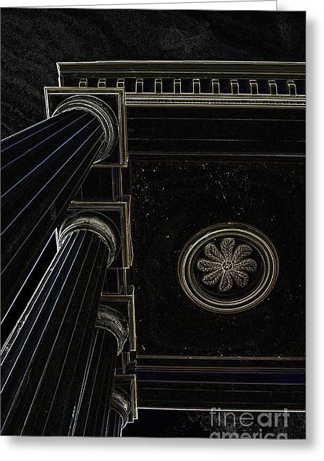 Celestial Pillars Greeting Card by Inspired Nature Photography Fine Art Photography