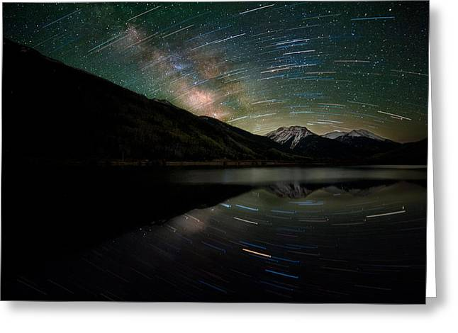 Celestial Rotation In The Colorado San Juans Greeting Card by Mike Berenson