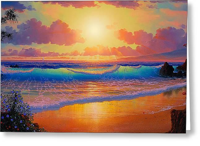 Celestial Shores Greeting Card by Loren Adams