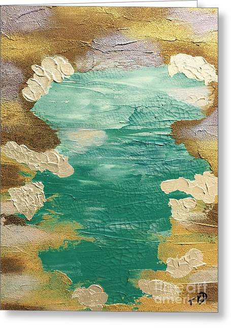 Celestial Waters Below Greeting Card