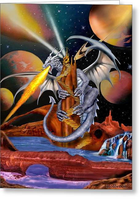 Celestian Dragon Greeting Card