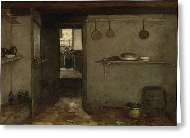Cellar Of The Artist's Home In The Hague Greeting Card by Litz Collection