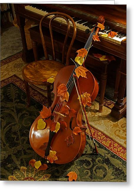 Cello Autumn 1 Greeting Card