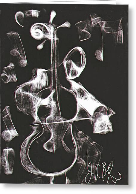 Cello Player  Greeting Card
