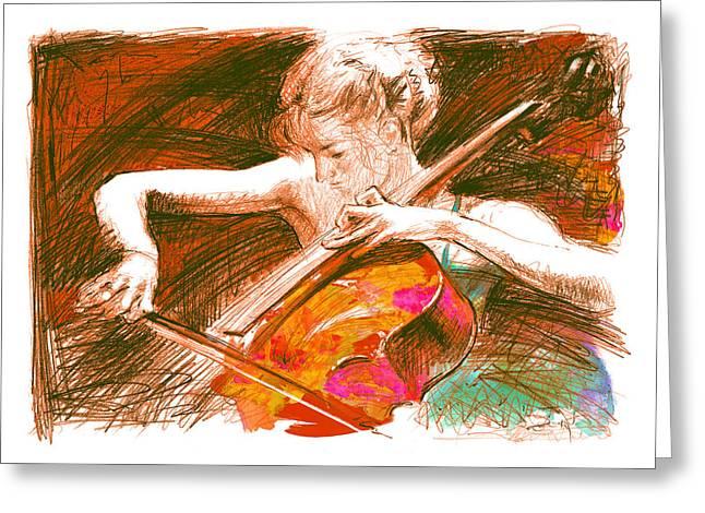 Cello-solo Greeting Card