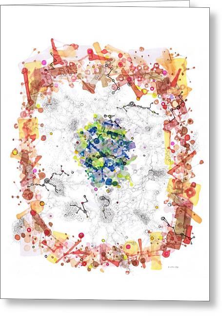 Cellular Generation Greeting Card by Regina Valluzzi