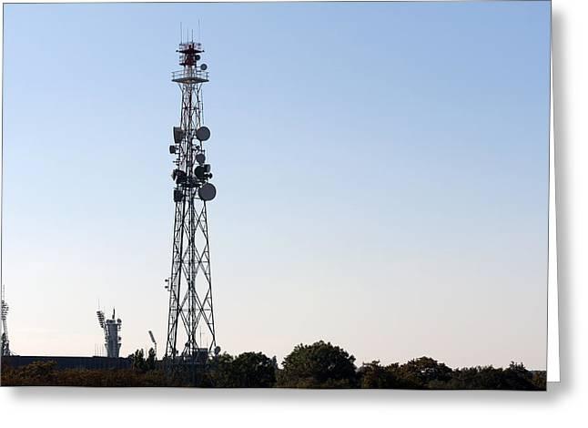 Cellular Tower. Greeting Card by Fernando Barozza