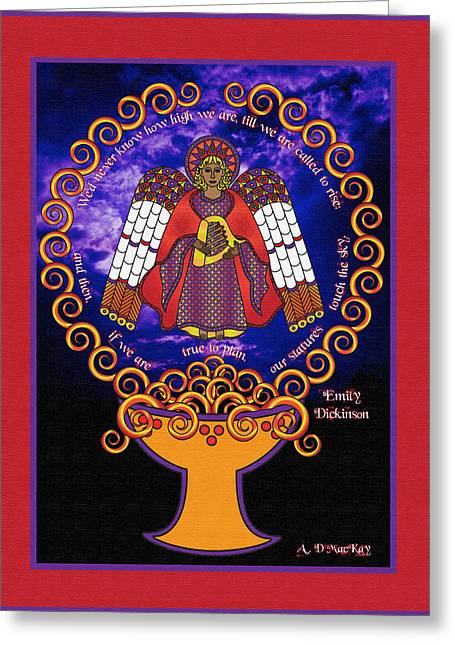 Celtic Angel Rising Greeting Card