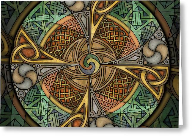 Celtic Aperture Mandala Greeting Card by Kristen Fox