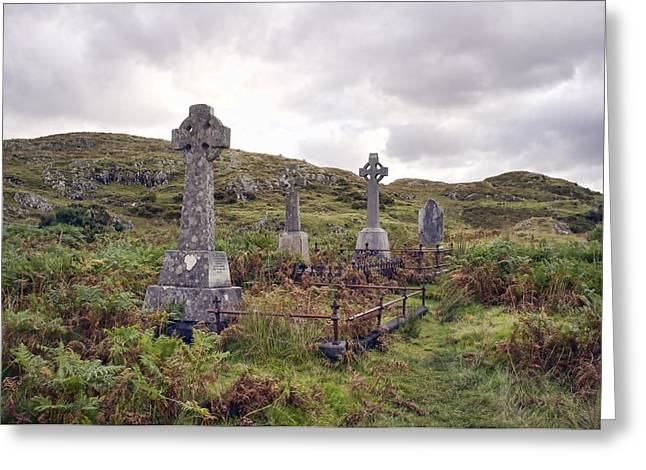 Greeting Card featuring the photograph Celtic Cemetary by Hugh Smith