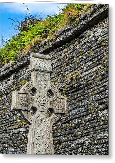 Celtic Cross At Kilmurry-ibrickan Church Greeting Card