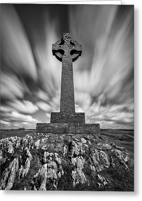Celtic Cross Greeting Card by Dave Bowman